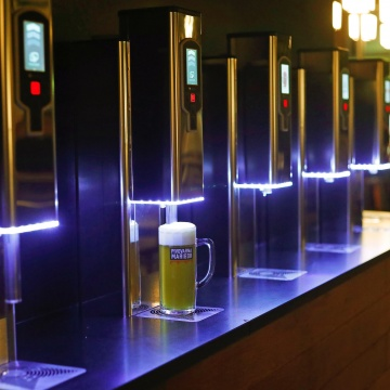 Beer Tasting at a Beer Fountain